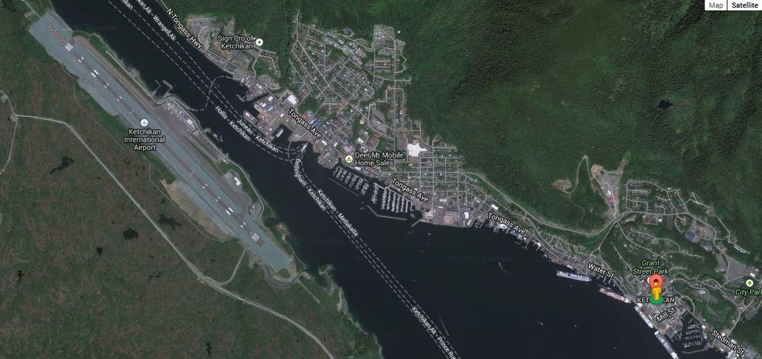Aerial photo of Ketchikan
